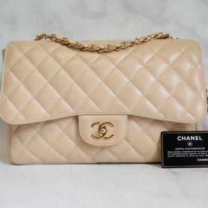Authentic Chanel Jumbo Beige Claire